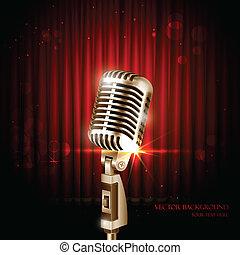 Vintage Microphone - illustration of Vintage Microphone...