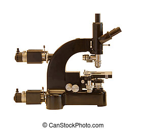 Vintage Microscope, advanced model, side view