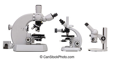 Vintage Microscope family, side view
