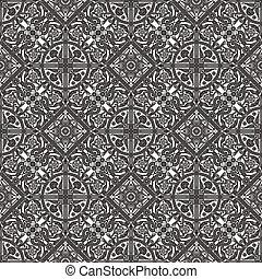 Vintage intricate seamless background tile based on Middle Eastern Arabic motif patterns