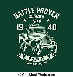 Vintage Military Jeep Vector Graphic, American Military Jeep Graphic T-shirt