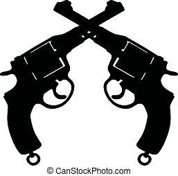 Vintage military revolvers