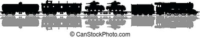 Vintage military steam train