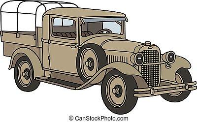 Vintage military truck