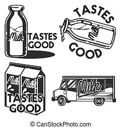 Vintage milk emblems
