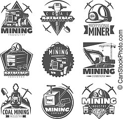 Vintage Mining Labels Set