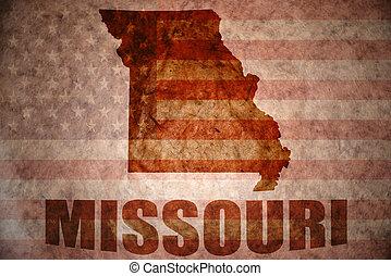 Vintage missouri map - missouri map on a vintage american...