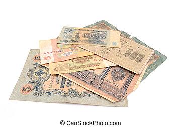 Vintage money. Money USSR. Obsolete. It is no longer valid, expired.