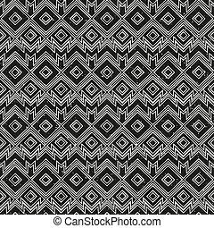 Vintage monochrome geometric pattern with grunge effect.
