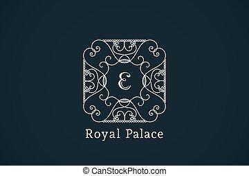 Vintage monogram. Vector frame for calligraphic luxury logos...