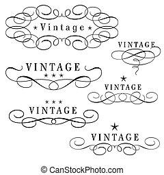 vintage monograms - black and white vintage monograms with...