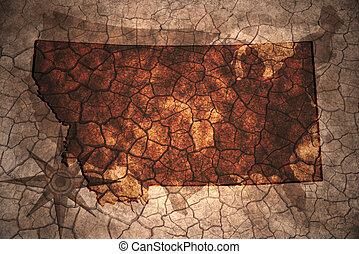 vintage Montana state map