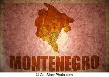 vintage montenegro map