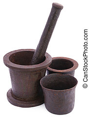 Vintage mortar with pestle