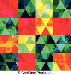 vintage mosaic seamless pattern with grunge effect