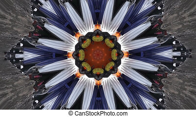 Vintage motion kaleidoscope background