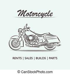 Vintage motor vector logo poster