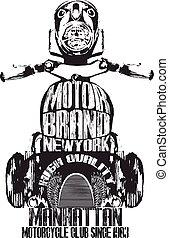 Vintage Motorcycle Graphic Design