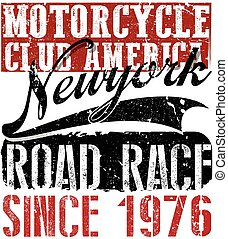 vintage motorcycle labels; badges and design elements