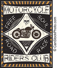 vintage motorcycle labels; badges and design elements