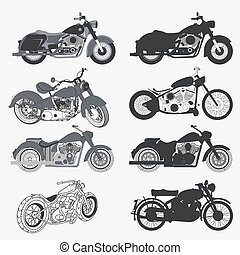 Vintage Motorcycle Set