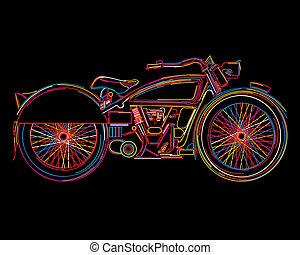 Vintage Motorcycle sketch