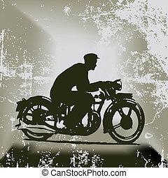 Vintage Motorcycle Vector Background