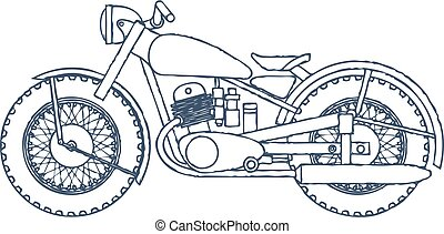 Vintage Motorcycle vector logo design template. bikeshop or motorcycle service icon. Vector