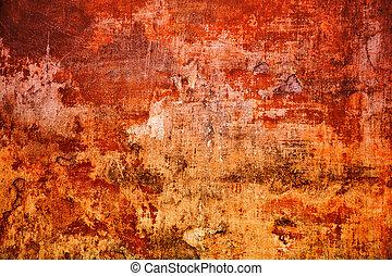 Vintage mottled frame, textured grunge background. Abstract old surface