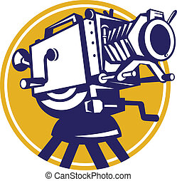 Vintage Movie Film Camera Retro - Illustration of a vintage...