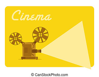 vintage movie projector, old cinema
