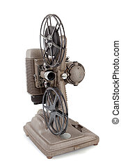 Vintage movie projector on a white background - A vintage...