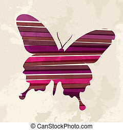 Vintage multicolor Butterfly