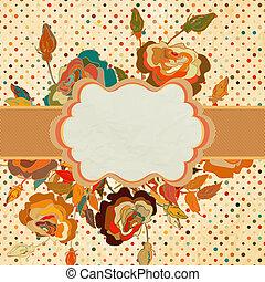 Vintage multicolor card template. EPS 8
