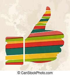Vintage multicolor hand like - Diversity colors transparent ...
