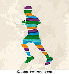 Vintage multicolor jogger