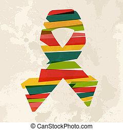 Vintage multicolor Ribbon