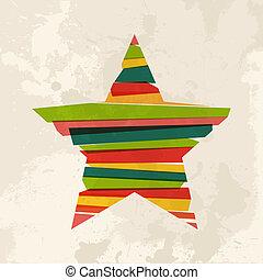 Vintage multicolor star
