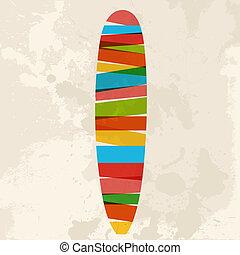 Vintage multicolor surfing - Diversity colors transparent ...