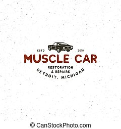 5595ead4 Muscle car vintage stamp. T-shirt print design. car vintage stamp ...