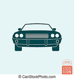 Vintage muscle car icon