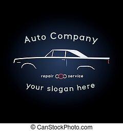 Vintage muscle car logo.
