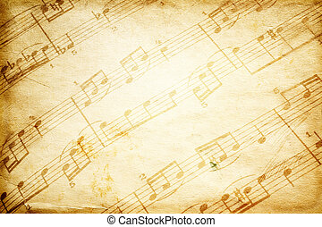 vintage music - special toned great for your design and art-...