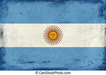Vintage national flag of Argentina background