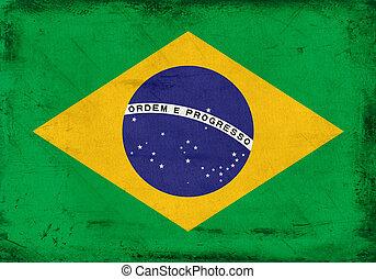 Vintage national flag of Brazil background