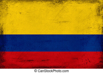 Vintage national flag of Colombia background