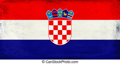 Vintage national flag of Croatia background