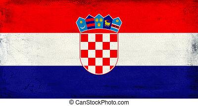 Vintage national flag of Croatia background