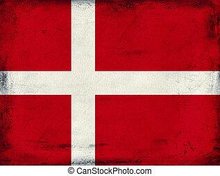 Vintage national flag of Denmark background