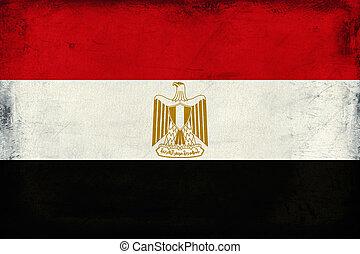 Vintage national flag of Egypt background